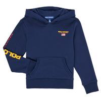 tekstylia Chłopiec Bluzy Polo Ralph Lauren AMELIA Marine