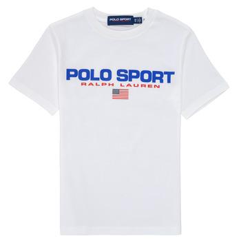tekstylia Chłopiec T-shirty z krótkim rękawem Polo Ralph Lauren DRONI Biały