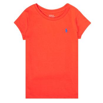 tekstylia Dziewczynka T-shirty z krótkim rękawem Polo Ralph Lauren SIDONIE Czerwony