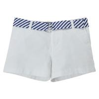 tekstylia Dziewczynka Szorty i Bermudy Polo Ralph Lauren FILLI Biały
