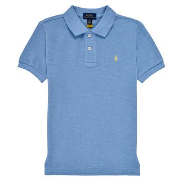tekstylia Chłopiec Koszulki polo z krótkim rękawem Polo Ralph Lauren BLEUNI Niebieski