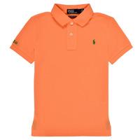 tekstylia Chłopiec Koszulki polo z krótkim rękawem Polo Ralph Lauren POLLIE Pomarańczowy