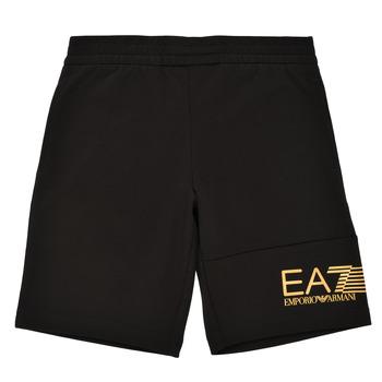 tekstylia Chłopiec Szorty i Bermudy Emporio Armani EA7 3KBS53-BJ05Z-1200 Czarny / Złoty