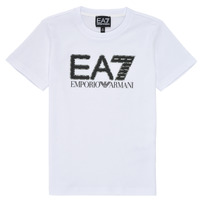 tekstylia Chłopiec T-shirty z krótkim rękawem Emporio Armani EA7 3KBT53-BJ02Z-1100 Biały