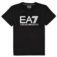 tekstylia Chłopiec T-shirty z krótkim rękawem Emporio Armani EA7 3KBT53-BJ02Z-1200 Czarny