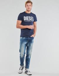 tekstylia Męskie Jeansy straight leg Diesel D-FINNING Niebieski / Medium