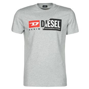 tekstylia Męskie T-shirty z krótkim rękawem Diesel 00SDP1-0091A-912 Szary