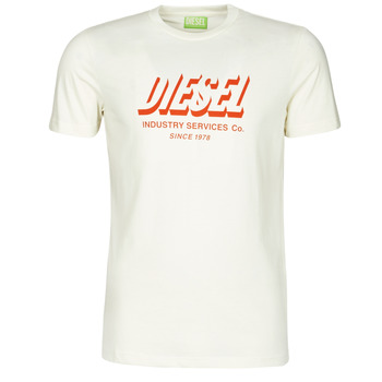 tekstylia Męskie T-shirty z krótkim rękawem Diesel A01849-0GRAM-129 Biały