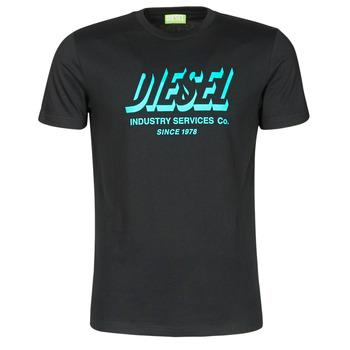 tekstylia Męskie T-shirty z krótkim rękawem Diesel A01849-0GRAM-9XX Czarny