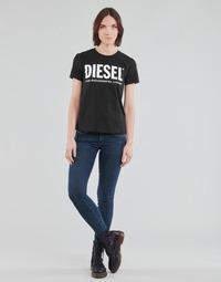 tekstylia Damskie Jeansy skinny Diesel SLANDY-LOW Niebieski / Medium