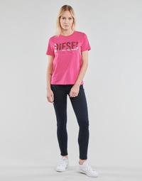tekstylia Damskie Jeansy skinny Diesel SLANDY Niebieski / Fonce