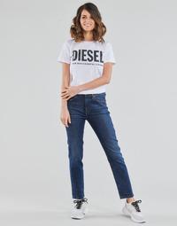 tekstylia Damskie Jeansy straight leg Diesel D-JOY Niebieski / Medium