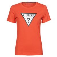 tekstylia Damskie T-shirty z krótkim rękawem Guess SS CN ORIGINAL TEE Czerwony