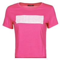 tekstylia Damskie T-shirty z krótkim rękawem Guess SS CN ADRIA TEE Fuksja