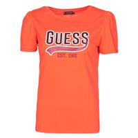tekstylia Damskie T-shirty z krótkim rękawem Guess SS CN MARISOL TEE Czerwony