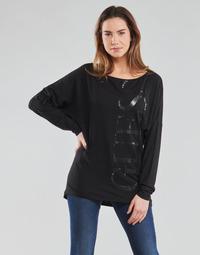 tekstylia Damskie T-shirty z długim rękawem Guess LS KAROLINA TEE Czarny