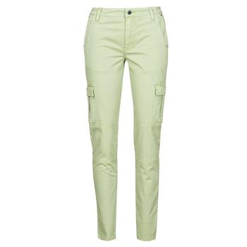 tekstylia Damskie Spodnie bojówki Guess SEXY CARGO PANT Zielony