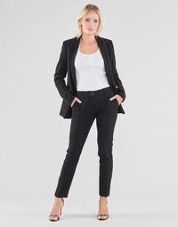 tekstylia Damskie Spodnie z pięcioma kieszeniami Guess ZOE PANTS Czarny