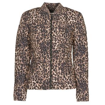 tekstylia Damskie Kurtki pikowane Guess VERA JACKET Leopard