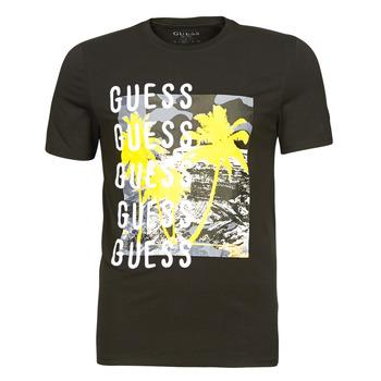 tekstylia Męskie T-shirty z krótkim rękawem Guess CAMUSPACE CN SS TEE Czarny / Wielokolorowy
