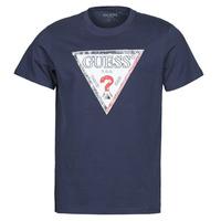 tekstylia Męskie T-shirty z krótkim rękawem Guess TRIESLEY CN SS TEE Marine