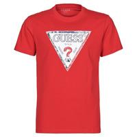 tekstylia Męskie T-shirty z krótkim rękawem Guess TRIESLEY CN SS TEE Czerwony