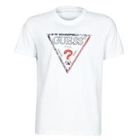 tekstylia Męskie T-shirty z krótkim rękawem Guess TRIESLEY CN SS TEE Biały