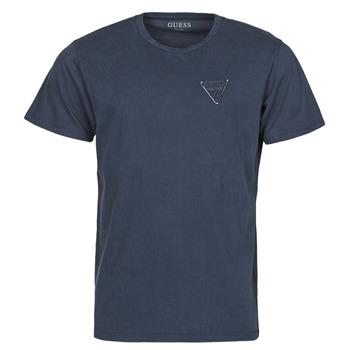 tekstylia Męskie T-shirty z krótkim rękawem Guess LOGO ORGANIC BASIC CN SS TEE Marine