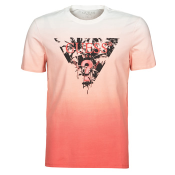 tekstylia Męskie T-shirty z krótkim rękawem Guess PALM BEACH CN SS TEE Czerwony