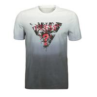 tekstylia Męskie T-shirty z krótkim rękawem Guess PALM BEACH CN SS TEE Czarny
