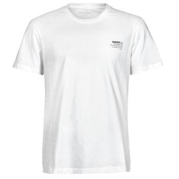 tekstylia Męskie T-shirty z krótkim rękawem Guess ORGANIC BASIC CN SS TEE Biały