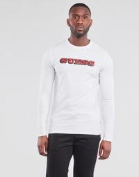 tekstylia Męskie T-shirty z długim rękawem Guess GUESS PROMO CN LS TEE Biały