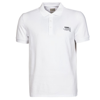 tekstylia Męskie Koszulki polo z krótkim rękawem Guess OZ SS POLO Biały