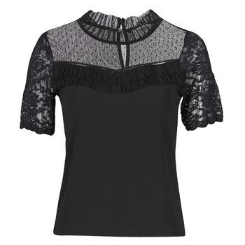 tekstylia Damskie T-shirty z krótkim rękawem Morgan DANY Czarny