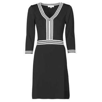 tekstylia Damskie Sukienki krótkie Morgan RMFATA Czarny / Biały