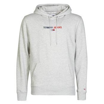 tekstylia Męskie Bluzy Tommy Jeans TJM LINEAR LOGO HOODIE Szary