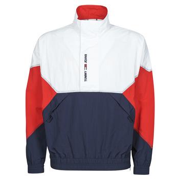 tekstylia Męskie Kurtki krótkie Tommy Jeans TJM LIGHTWEIGHT POPOVER JACKET Biały / Czerwony / Marine