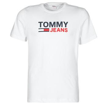 tekstylia Męskie T-shirty z krótkim rękawem Tommy Jeans TJM CORP LOGO TEE Biały