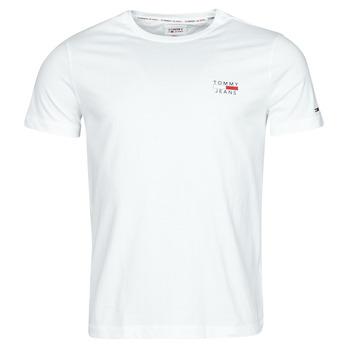 tekstylia Męskie T-shirty z krótkim rękawem Tommy Jeans TJM CHEST LOGO TEE Biały