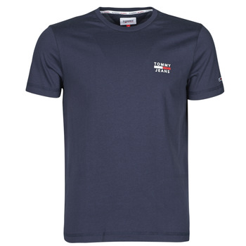 tekstylia Męskie T-shirty z krótkim rękawem Tommy Jeans TJM CHEST LOGO TEE Marine