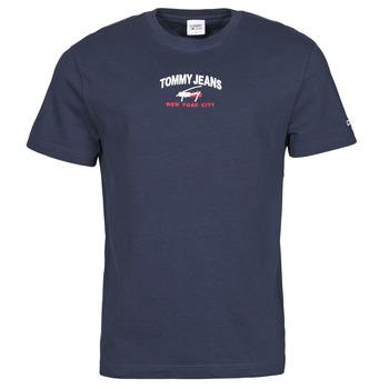 tekstylia Męskie T-shirty z krótkim rękawem Tommy Jeans TJM TIMELESS TOMMY SCRIPT TEE Marine