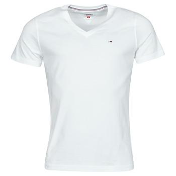 tekstylia Męskie T-shirty z krótkim rękawem Tommy Jeans TJM ORIGINAL JERSEY TEE V NECK Biały