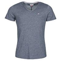 tekstylia Męskie T-shirty z krótkim rękawem Tommy Jeans TJM SLIM JASPE V NECK Marine
