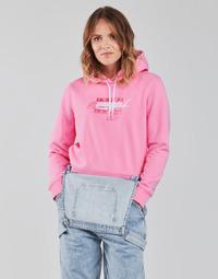 tekstylia Damskie Bluzy Tommy Jeans TJW CROPPED TOMMY FLAG HOODIE Różowy