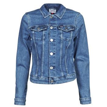 tekstylia Damskie Kurtki jeansowe Tommy Jeans VIVIANNE SLIM DENIM TRUCKER NMBS Niebieski / Medium