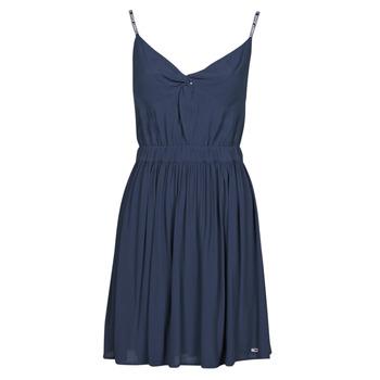 tekstylia Damskie Sukienki krótkie Tommy Jeans TJW ESSENTIAL STRAP DRESS Marine