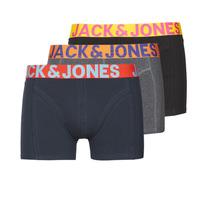 Bielizna  Męskie Bokserki Jack & Jones JACCRAZY X3 Czarny / Niebieski / Szary