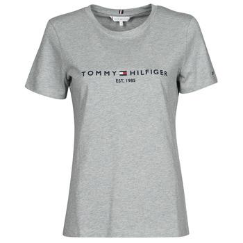 tekstylia Damskie T-shirty z krótkim rękawem Tommy Hilfiger TH ESS HILFIGER C-NK REG TEE SS Szary