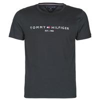 tekstylia Męskie T-shirty z krótkim rękawem Tommy Hilfiger CORE TOMMY LOGO Czarny