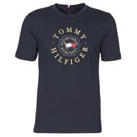 tekstylia Męskie T-shirty z krótkim rękawem Tommy Hilfiger ICON COIN TEE Marine